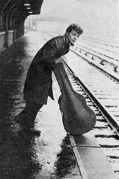 Dion DiMucci on the road, waiting for a train.