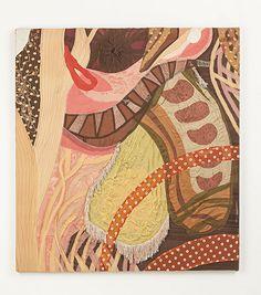 """""""Soft Painting: Fringe"""" painel em tecidos sobre chassis de madeira (panel made…"""