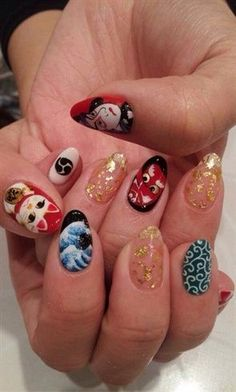 Nice Japanese Nail By Shiogizmo From Art Gallery