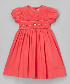 Love this Fantaisie Kids Hot Pink Smocked Dress - Infant, Toddler & Girls by Fantaisie Kids on #zulily! #zulilyfinds