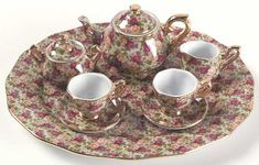 minature tea set collections | ROYAL ALBERT OLD COUNTRY ROSES-CHINTZ COLLECTION at Replacements, Ltd
