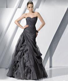 Discount High end Black Sweetheart Corset Ruffled Floor Length Evening Dress (EDT-039) Online