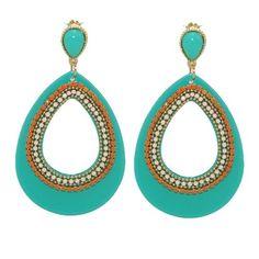 Statement oorbellen turquoise #ohsohip