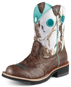 Ariat Crinkle Camo Fatbaby Cowgirl Boot - Round Toe.    darn list of boots is going to be loong...
