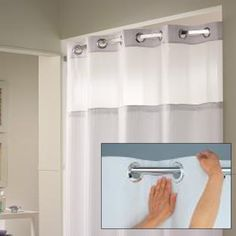 Hookless Shower Curtain 71 X77 Shower Curtains Rods