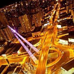 Goiânia à noite... belíssima. Goiânia - State of Goiás, Brazil.