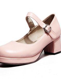 X&D Damenschuhe - High Heels - Outddor / Büro / Lässig - Kunstleder - Blockabsatz - Rundeschuh - Schwarz / Rosa / Lila / Rot - http://on-line-kaufen.de/tba/x-d-damenschuhe-high-heels-outddor-buero-laessig