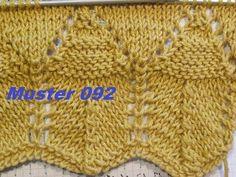 Muster 092*Stricken lernen*Ajourmuster Muster für Pullover Strickjacke Mütze Stirnband - YouTube