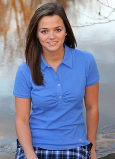 Golftini Shortsleeve Button Polo in blue
