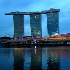 The Marina Bay Sands hotel in Singapore. And the massive infinity pool.