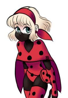Los dejo con esto: Toriitorii ha re-diseñado el traje de Ladybug de Charlotta