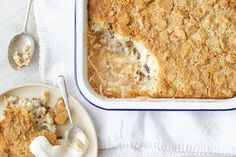 Rice Pudding Crumble Rice Desserts, Easy Desserts, Dessert Recipes, Healthy Desserts, Dessert Ideas, Yummy Recipes, Free Recipes, Healthy Food, Creamed Rice