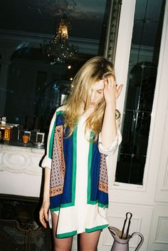 summer shift dress, has a pop of Moroccan pattern to give this outfit a different and noticeable effect.