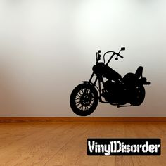 Motorcycle Wall Decal - Vinyl Decal - Car Decal - 055