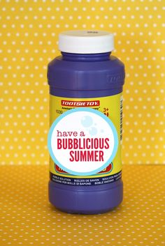 """Have a bubblicious summer"" free printable tag for end of the school year student gifts"