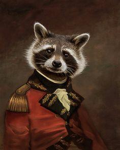 Anthropomorphic portrait  - Grand duc Oreo