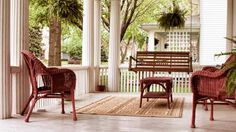 front porch swing and seats for curb appeal