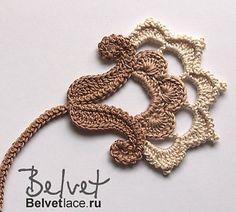 irish crochet flowers Flower from Bolero Cappuccino 4 pattern by Victoria Belvet- Crochet Russe, Marque-pages Au Crochet, Crochet Bolero Pattern, Beau Crochet, Irish Crochet Patterns, Russian Crochet, Crochet Gratis, Freeform Crochet, Crochet Designs