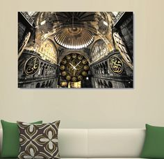 Aya Sofya - Hagia Sophia Canvas Wall Clock / Kanvas Duvar Saati http://www.tictactasarim.com/K15,modern-tablo-saatler.htm
