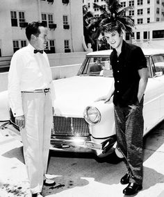 Elvis' Lavender Lincoln turned lipstick red when his Miami fans got to it during his Florida tour. Teen-agers wrote him endearing notes on the brand-new car, bought just a few weeks ago.