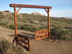 ranch entrance ideas | ... purpose and elegance. I really enjoyed building this Ranch Entry Gate