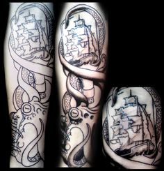 Octopus Tattoo Sleeves | Octopus Bottle Ship by ~OnTheLastRoad on deviantART 8531 Santa Monica Blvd West Hollywood, CA 90069 - Call or stop by anytime. UPDATE: Now ANYONE can call our Drug and Drama Helpline Free at 310-855-9168.