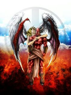 Angel And Devil Love : angel, devil, Forbidden, Ideas, Love,, Angels, Demons,, Fallen, Angel