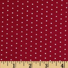 Stretch Bamboo Rayon Jersey Knit Dot Red