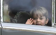 Hello!-Wedding of Philippa Middleton and James Matthews, May 20, 2017-Prince George gives a wave