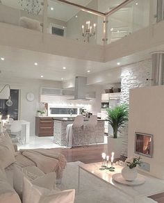35 Beautiful Cozy Living Room Design Idea Try For You Living room decorating can be challenging. Find out more about Cozy DIY Living Room Design Idea to learn what you want to develop decent home. Most used rooms you would like to decorate. Dream Home Design, Modern House Design, Home Interior Design, Interior And Exterior, Cozy Living Rooms, Home Living Room, Living Room Designs, Living Room Decor, Beautiful Living Rooms