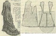 "Tygodnik Mód 1877.: ""Beduine"" overdress."