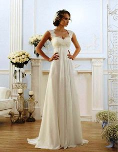 8-Simple Vintage Wedding Dress