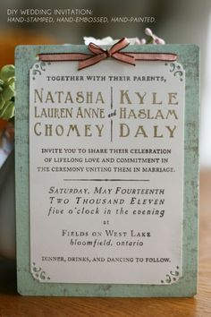 DIY handmade invitations