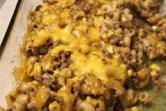 Hamburger Casserole | Tried and Tasty This is one of those simple dishes that you throw together on nights you don't really feel like making anything. It's simple and delicious and can be paired with bread and a salad.