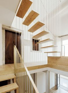 18th-Century Spanish House Features New Floating Staircase - http://freshome.com/spanish-house-floating-staircase