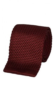 Maroon Silk Knit Tie.