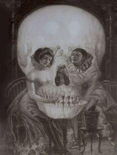 Items similar to L'Amour de Pierrot, Surreal Memento Mori, circa 1905 on Etsy Pierrot, Magie Du Chaos, Canvas Art, Canvas Prints, Art Prints, Canvas Size, Image Illusion, Memento Mori Art, Monochrom