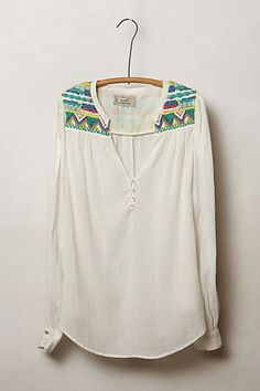 Rohini Peasant Blouse: love the small detail on the shoulders, something unexpected