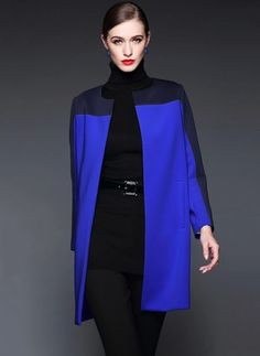 Cotton & Cotton Blend As Picture Long Long Sleeve Collarless Coats & Jackets