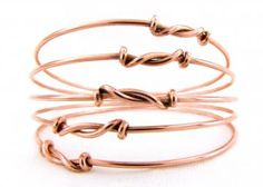 Set Of Five Stackable Copper Bangles Ethnic Bangle Set Ethnic Jewelry / CUSTOM SIZE Made To Order Jewelry by Cuprum29 for $30.00