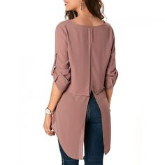 Women Sexy V-Neck Long Sleeve Swallowtail Blouse Trendy Clothes For Women, Blouses For Women, Blouse Sexy, Blouse Online, Blouse Styles, Beautiful Outfits, Plus Size Outfits, Fashion News, Sexy Women