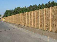 The willow fence will be beautiful in any environment #TheGreenBarrier #fence #privacy #natural