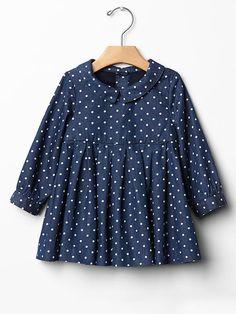 Polka dot denim dress Product Image