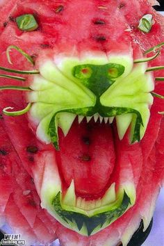 A watermelon's inner form