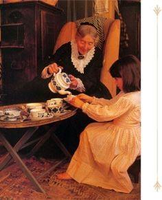 Tasha Tudor....tea party :)