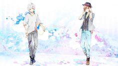 Soraru and Amatsuki Manga Art, Anime Art, Bungou Stray Dogs, Anime Shows, Guys And Girls, Doodle Art, Vocaloid, Cute Boys, Anime Guys