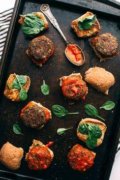 Vegan Lentil-Mushroom Meatball Sliders A Giveaway of YumUniverse Pantry to Plate