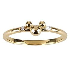 14 KT Gold and Diamond Mickey Mouse Ring - Disney Dream Collection #14KT #gold #diamond #MickeyMouse #ring #Disney