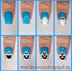 Olaf nails, adorable!!