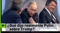 La tajante respuesta de Putin a la pregunta de un prestigioso periodista... Vladimir Putin, Big Bang Theory, Donald Trump, Decir No, Videos, Youtube, Presidents, Journaling, Parts Of The Mass